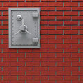 Wall safe. Stock Photos