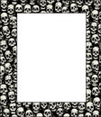 Wall of skulls Royalty Free Stock Photos