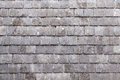 Wall with slate shingles in killarney county kerry ireland Stock Photo