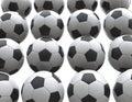Wall of soccer balls Royalty Free Stock Photo