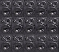 Wall of Speakers Royalty Free Stock Photo