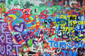 Wall sprayed with graffiti Royalty Free Stock Photo