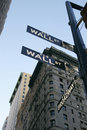 Wall St Sign - New York City Stock Photography
