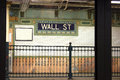 Wall St. subway stop, NYC Stock Images