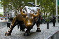 Wall Street Bull, Manhattan, NYC, NY Royalty Free Stock Photo