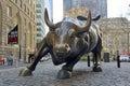 Wall Street Bull in New York City Royalty Free Stock Photo