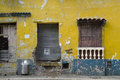 Wall in the street of cartagena colombia Royalty Free Stock Photos