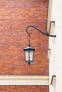 Wall with street lamp Stock Photo