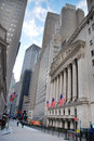 Wall Street and New York Stock Exchange Royalty Free Stock Photos