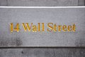 Wall Street Sign, Manhattan, New York City Royalty Free Stock Image