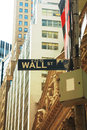 Wall street sign in new york city Stock Photography