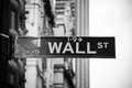 Wall street sign in new york city usa Stock Photo