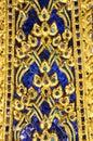 Wall texture at Wat Phra Kaew Stock Photo