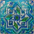 Wall tile turkish artistic floral pattern Stock Images
