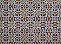 Wall tiled with colorful geometrical pattern