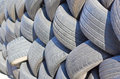 Wall of tires. Royalty Free Stock Photo