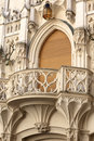 Wall with tracery balcony of palace czech republic Royalty Free Stock Photography