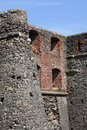Wall of uzhhorod castle detail ukraine Royalty Free Stock Photo