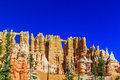 Wall of windows in a cliffwall hoodoos at the in bryce canyon national park utah Royalty Free Stock Photos