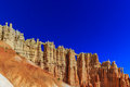 Wall of windows in a cliffwall hoodoos at the in bryce canyon national park utah Stock Photo