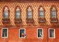 Wall Windows Flags Decorations Venice Royalty Free Stock Photo
