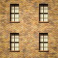 wall with windows texture Royalty Free Stock Photo