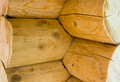 Wooden log house corner log house ecological natural structure Royalty Free Stock Photo