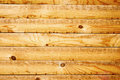 Wall of wooden planks as background yellow Royalty Free Stock Photography