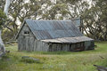 Wallace hut near falls creek victoria australia is the oldest in the alpine national park it was built by the three Stock Photo