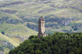 Wallace monument view from stirling castle impressive Stock Photo