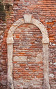 Walled door of old house in verona Stock Photo