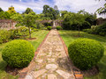 Walled garden traditional in oxfordshire england Royalty Free Stock Images
