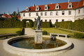 Wallenstein palace garden prague landmark fountain and statue in the and Stock Photography