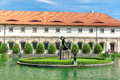 Wallenstein Riding Hall in baroque garden, Prague, Czech Republi Royalty Free Stock Photo