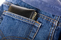 Wallet in back pocket Royalty Free Stock Photo