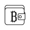 Wallet with bitcoin symbol