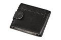 Wallet black leather isolated on white background Royalty Free Stock Images
