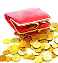 Wallet and coin Royalty Free Stock Images