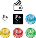 Wallet and credit card icon sy Royalty Free Stock Photos
