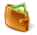 Wallet with dollar Royalty Free Stock Image