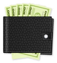 Wallet with dollar banknote Stock Photography