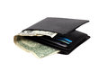 Wallet with dollar banknotes Royalty Free Stock Photo