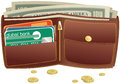 Wallet and money Royalty Free Stock Photo