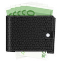 Wallet with one hundred euro banknotes Royalty Free Stock Photography