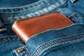 Wallet in pocket Royalty Free Stock Photo