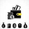 Wallet or Pocketbook Vector Icon