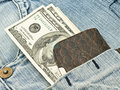 Wallet, US dollars in the pocket Royalty Free Stock Photo
