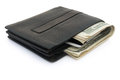 Wallet and USD dollars and card Royalty Free Stock Image