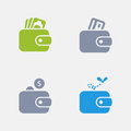 Wallets - Granite Icons Royalty Free Stock Photo