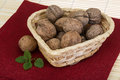 Wallnut in the basket Royalty Free Stock Photo